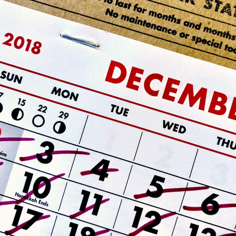 Retos de escritura para diciembre: calendario de adviento y reto de fin de año
