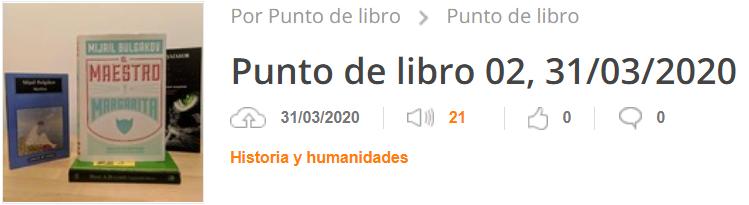 PODCAST: «Punto de libro» #02